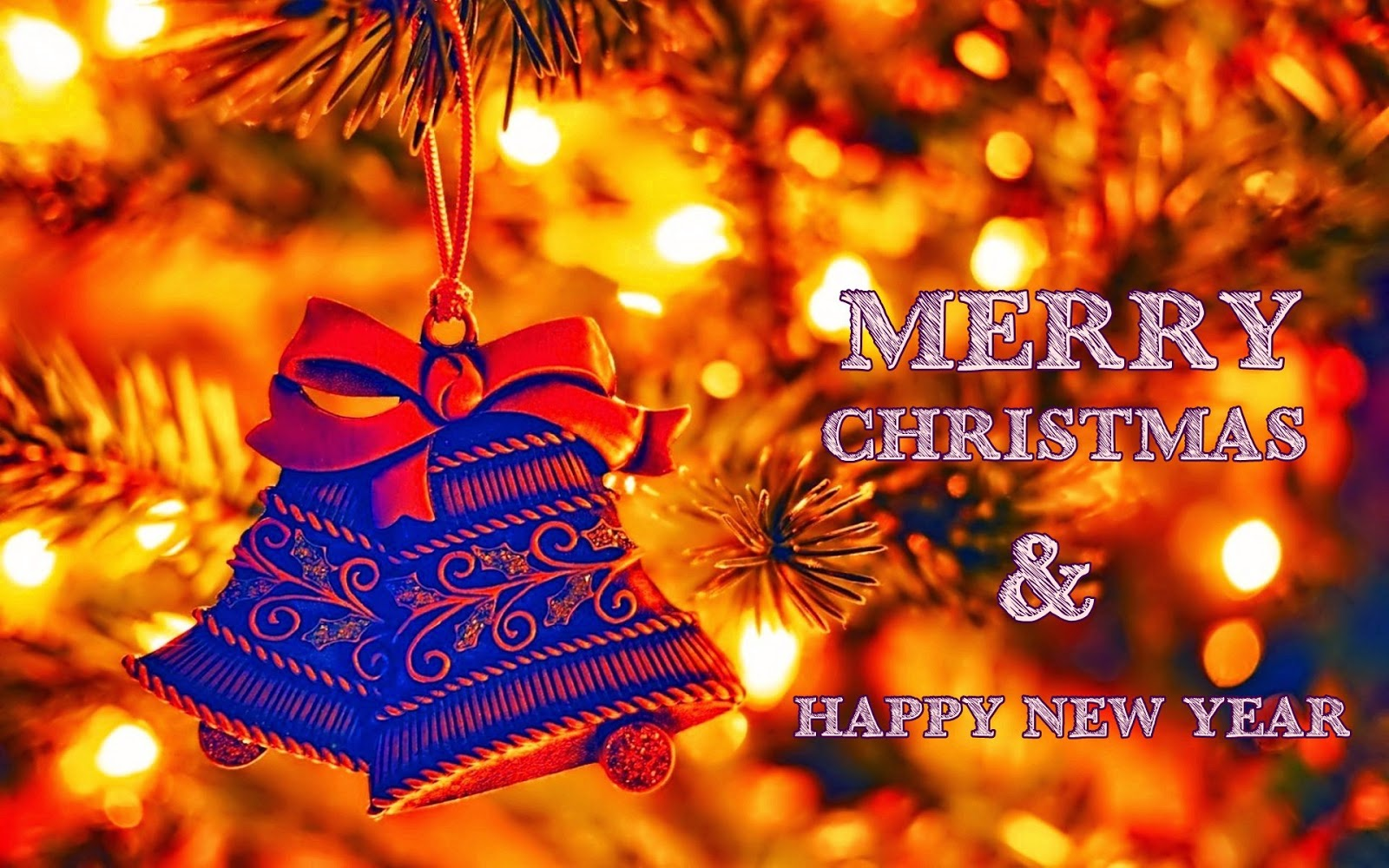 Download-happy New Year Hd Images, Wallpapers, Photos - Merry Christmas And Happy New Year 2018 , HD Wallpaper & Backgrounds