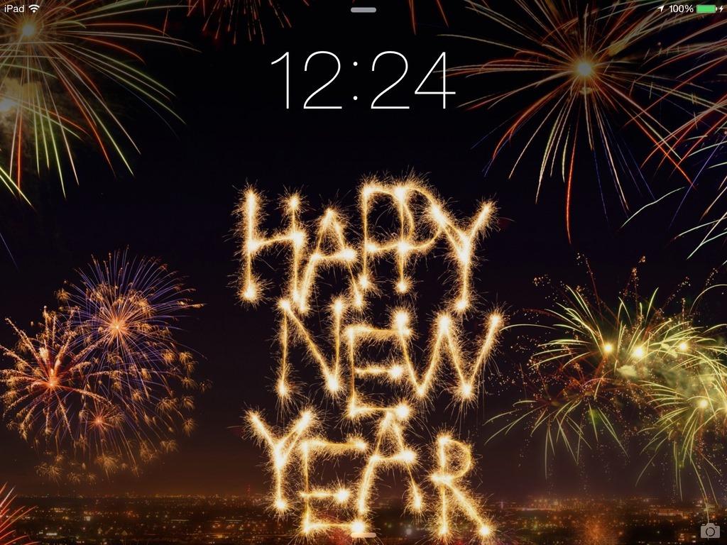 Happy New Year Ipad Wallpaper - Happy New Year Big , HD Wallpaper & Backgrounds