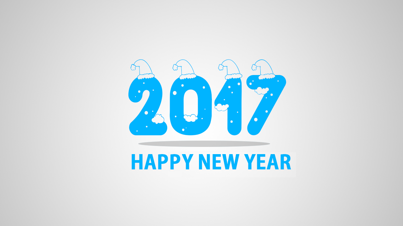 Whatsapp Wallpaper 2017 - Happy New Year 2017 Blue , HD Wallpaper & Backgrounds