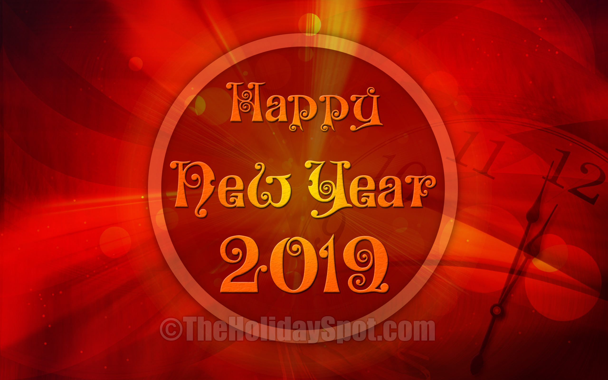 New Year Wallpaper - Happy New Year 2019 Screensaver , HD Wallpaper & Backgrounds