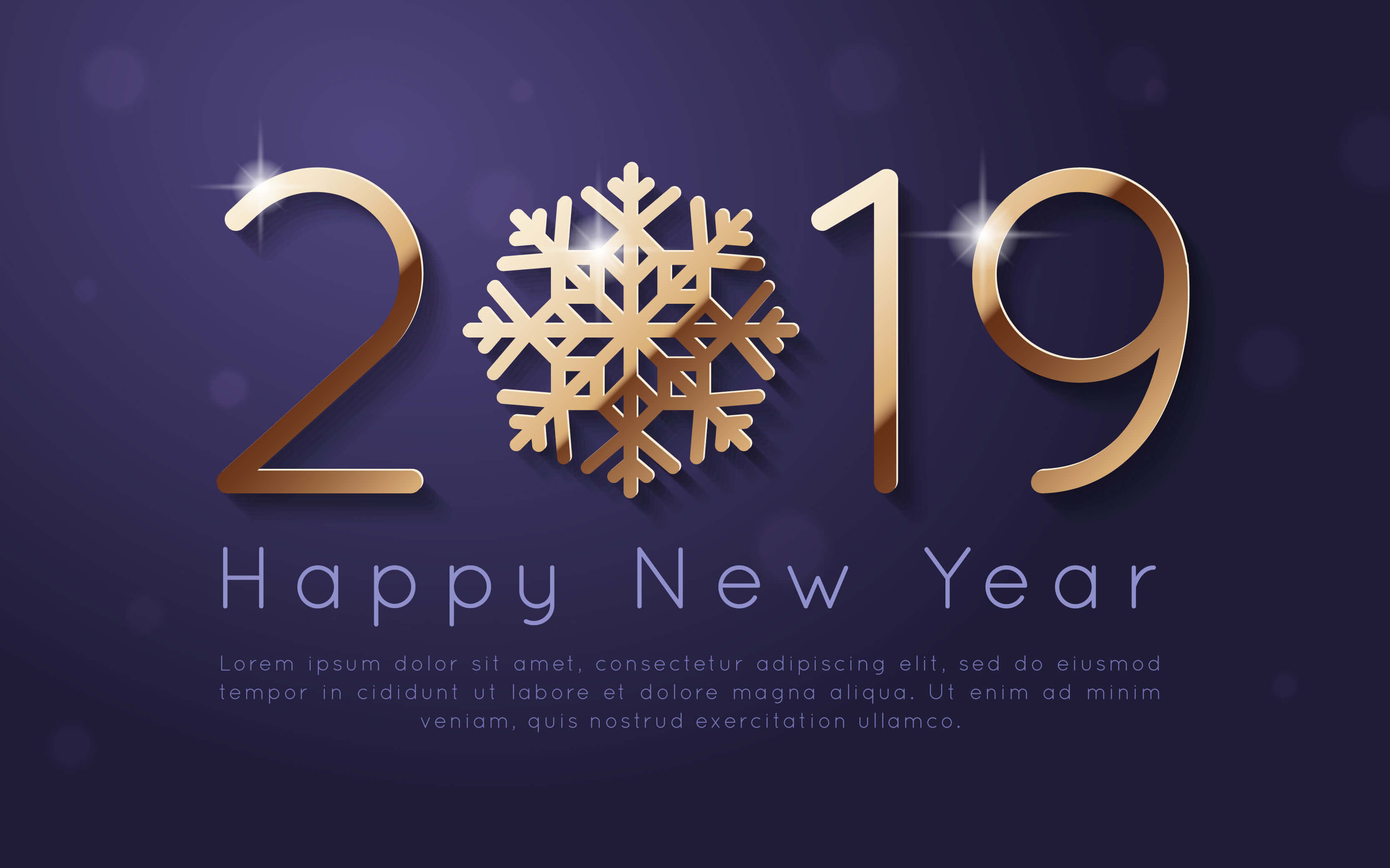 Happy New Year Wallpapers - New Year 2019 Design , HD Wallpaper & Backgrounds