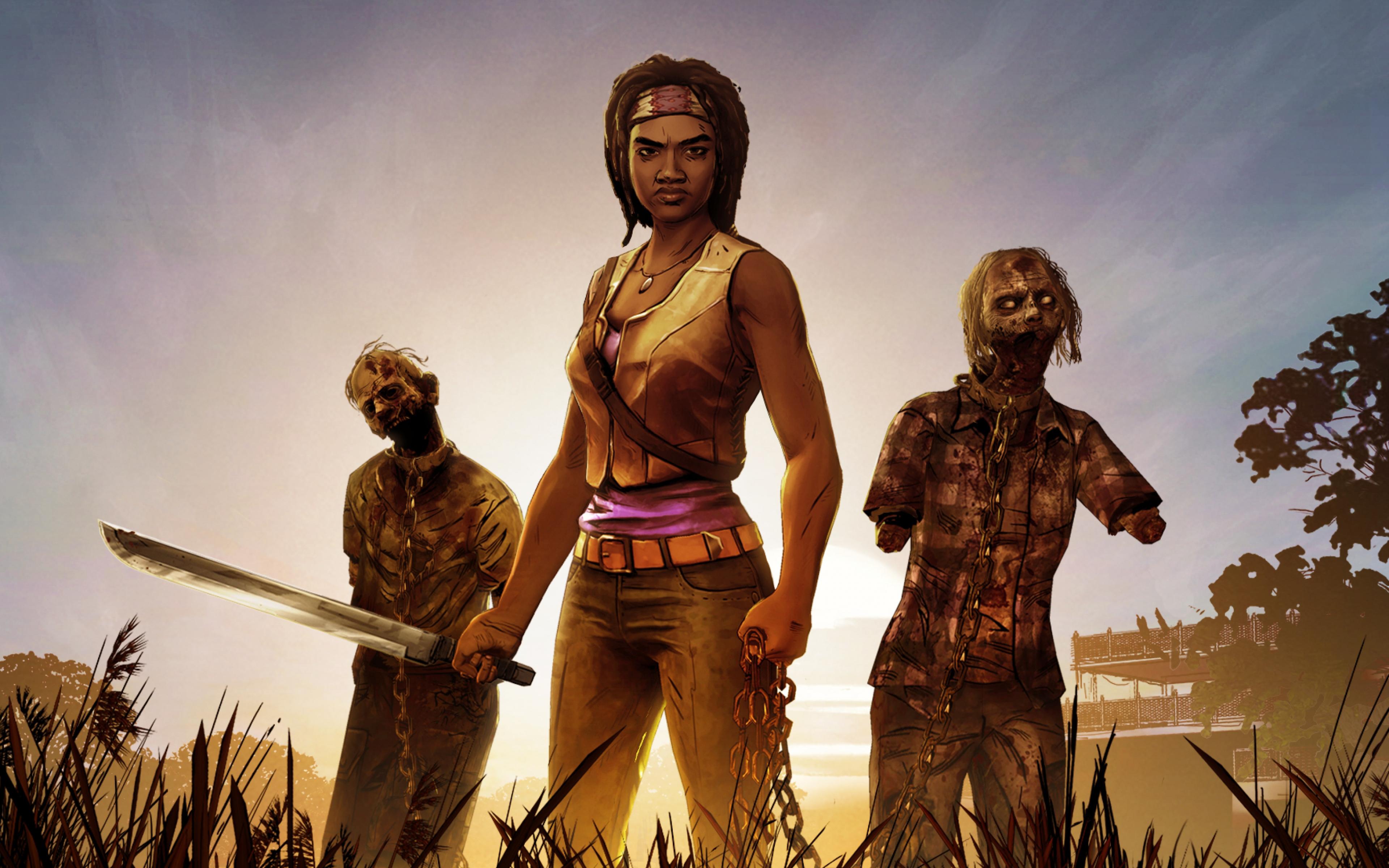 The Walking Dead - Walking Dead Game Season 4 Hd , HD Wallpaper & Backgrounds