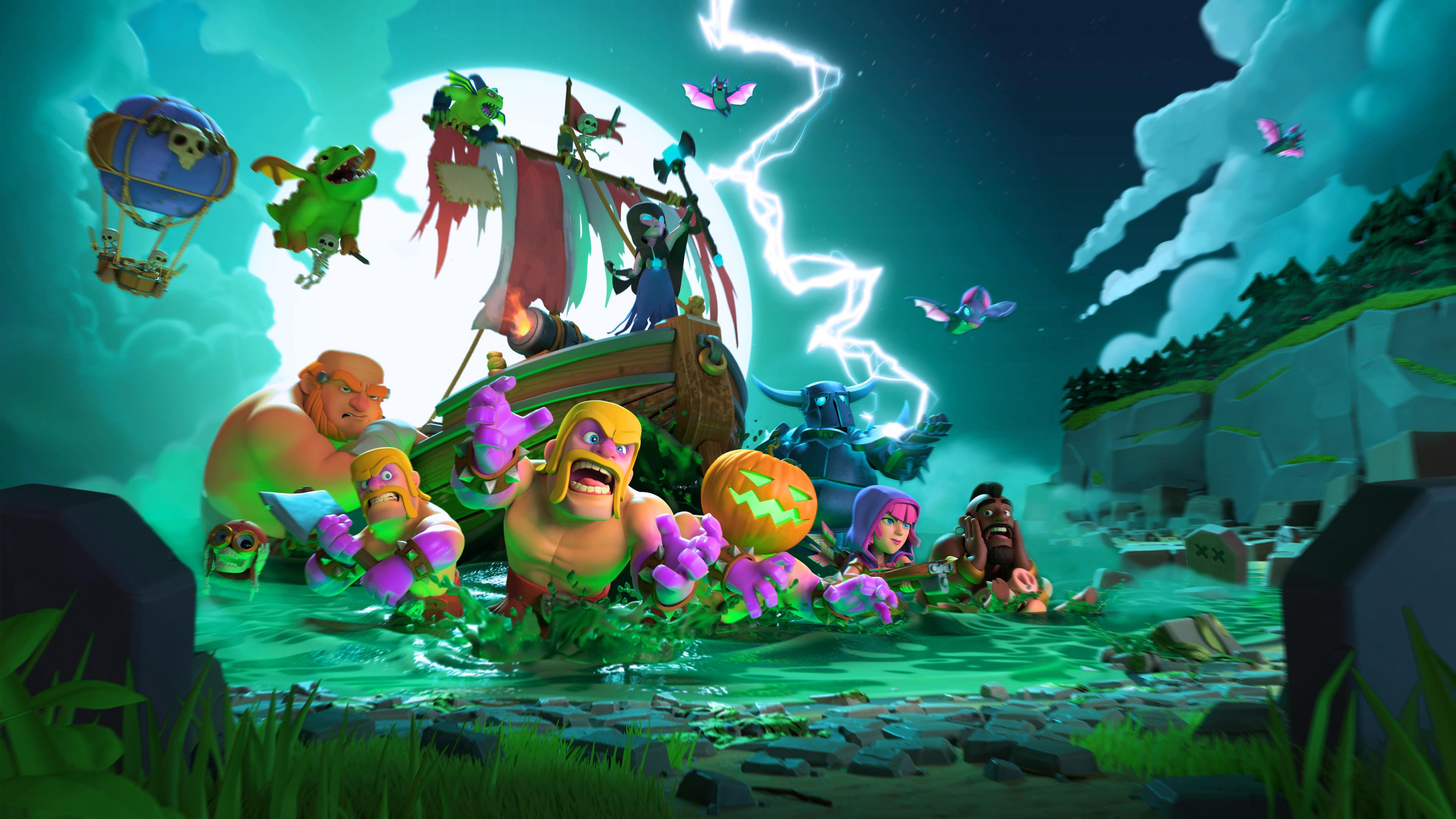 Clash Of Clans Halloween 4k Clash Of Clans Loding Screen