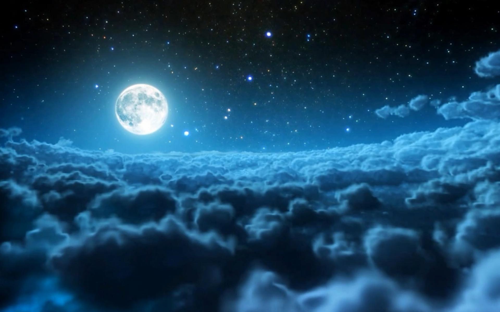 Night Sky Wallpaper Hd - Moon Scenery , HD Wallpaper & Backgrounds