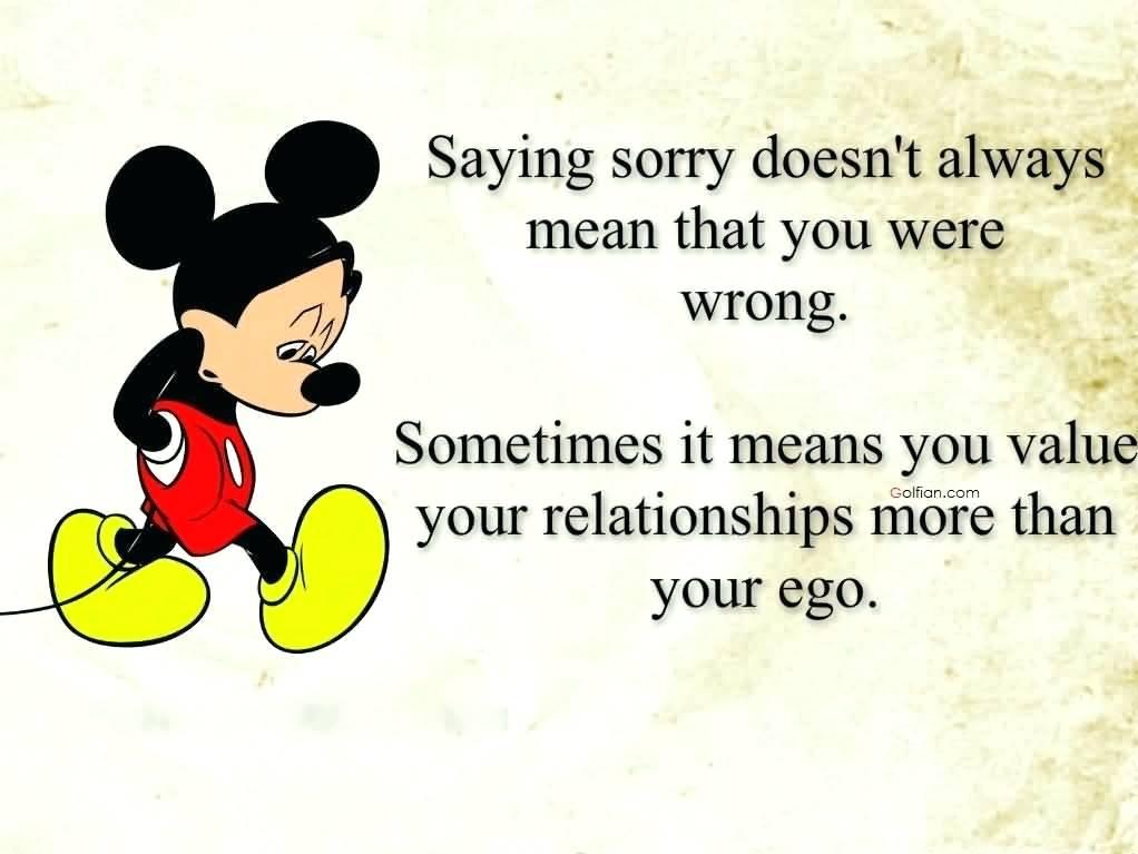 Sorry Love Quotes Quotation Tumblr Wallpaper - Sad Mickey ...