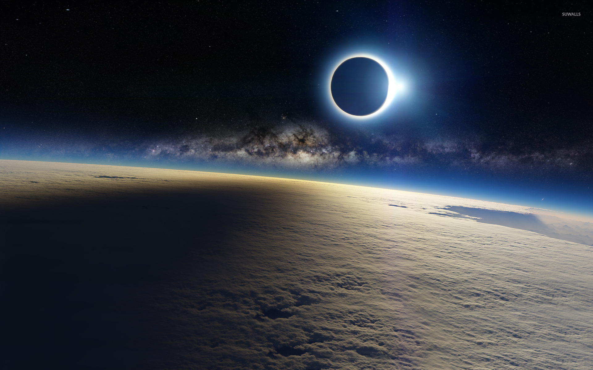 Eclipse Wallpaper - Solar Eclipse From Space , HD Wallpaper & Backgrounds