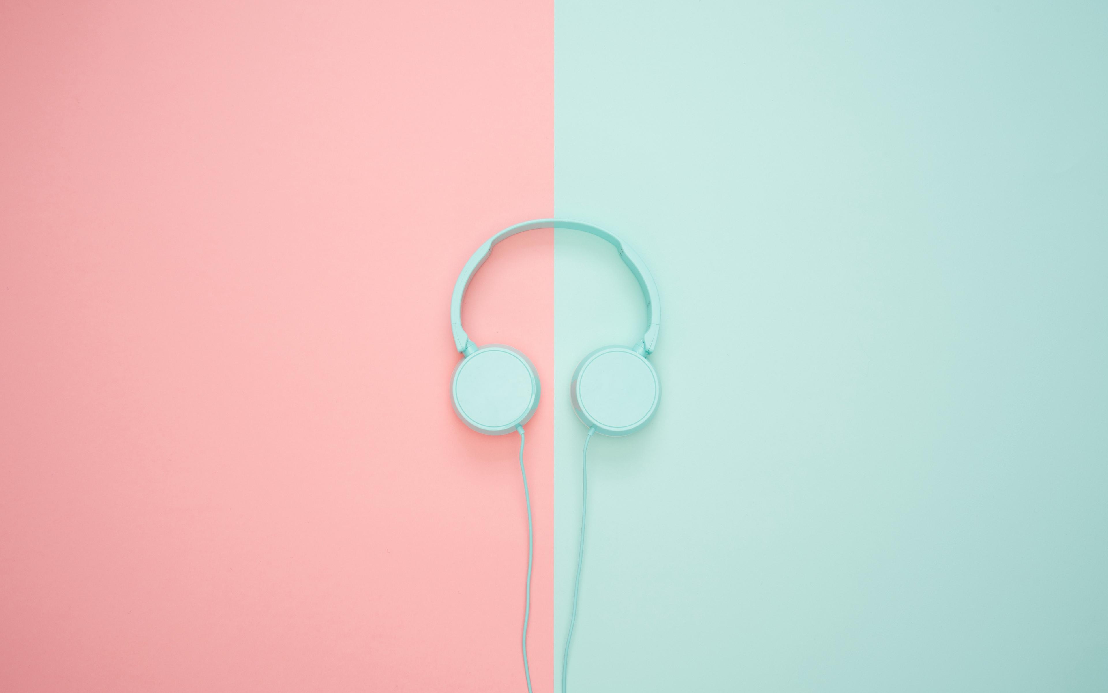 Wallpaper Headphones Minimalism Pastel Pink Pastel Desktop 37245 Hd Wallpaper Backgrounds Download