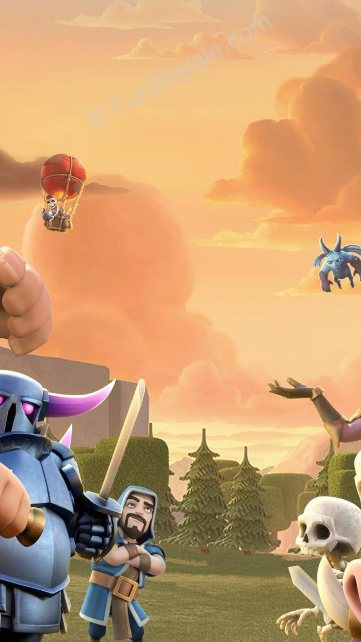 Clash Of Clans Wallpapers Iphone X - Clash Royale Fondos Hd , HD Wallpaper & Backgrounds
