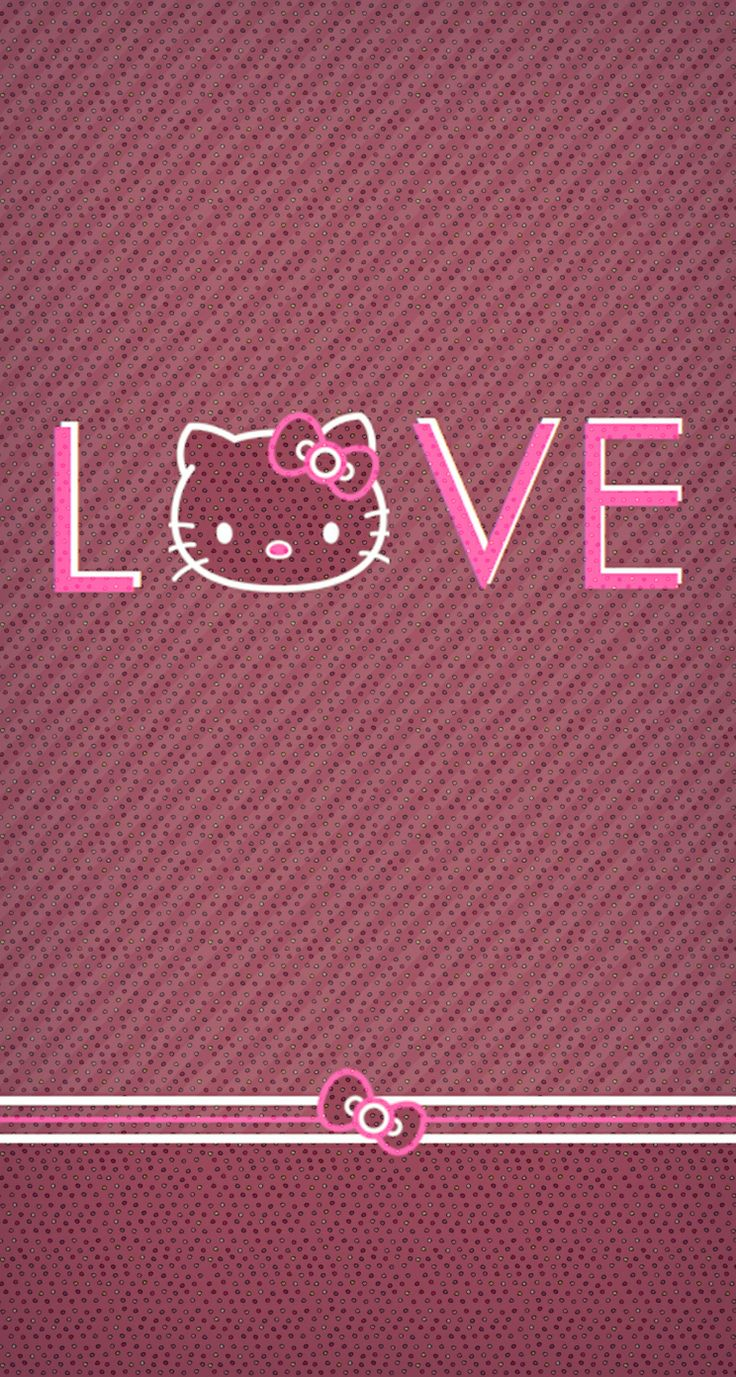 Hello Kitty Pink And Black Love Wallpapers Mobile Is Hello