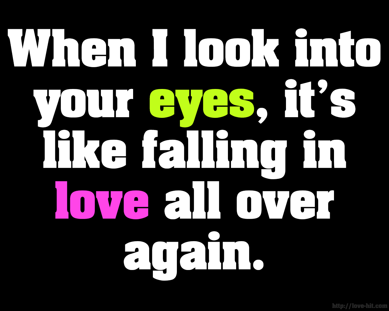 Cute Love Wallpapers With Quotes - Quotes When I Look Into Your Eyes , HD Wallpaper & Backgrounds