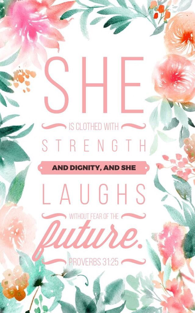 Bible Verse Iphone Wallpaper// Proverbs - Proverbs 31 25 Background , HD Wallpaper & Backgrounds