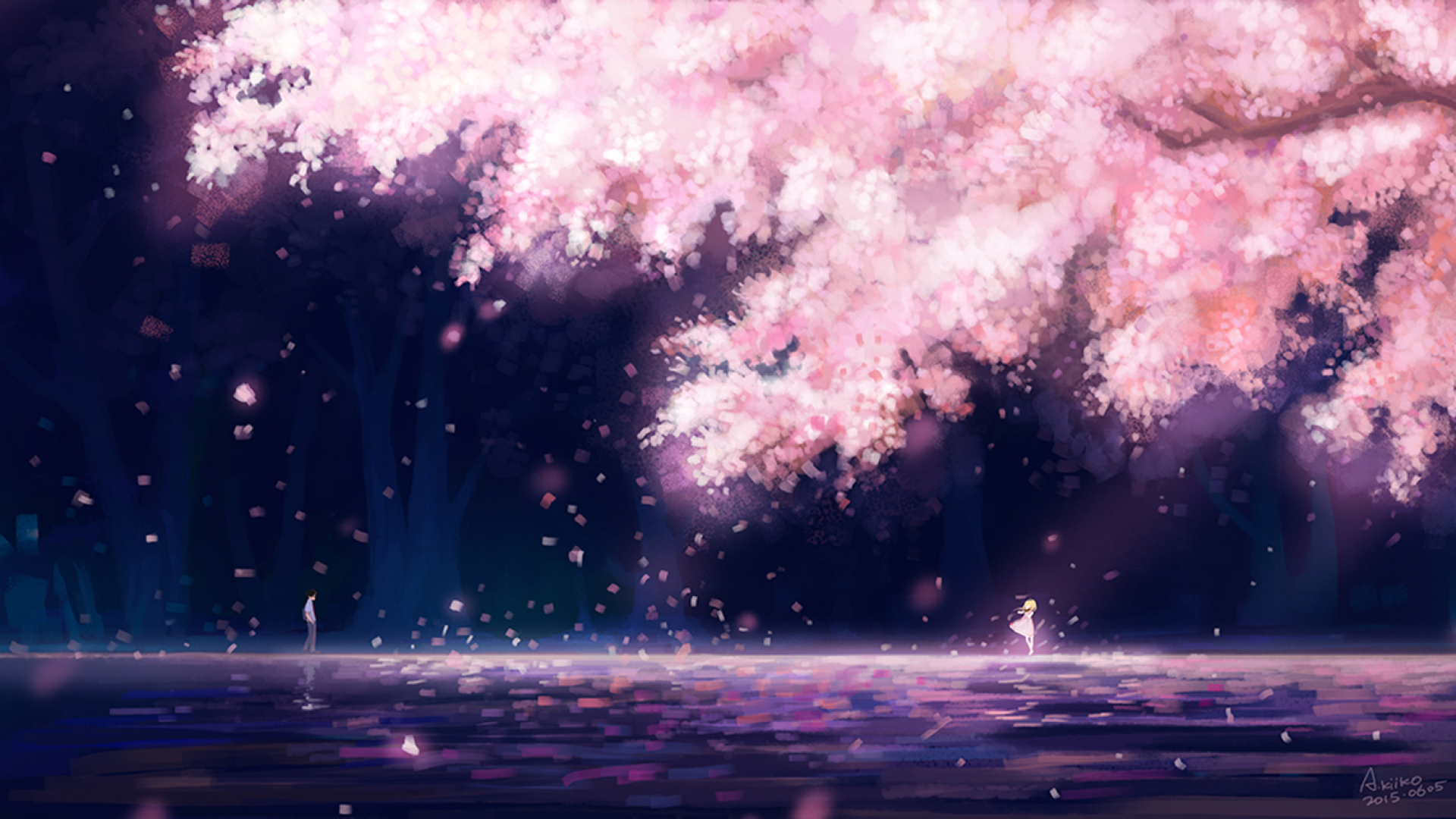 Your Lie In April Cherry Blossom 300747 Hd Wallpaper