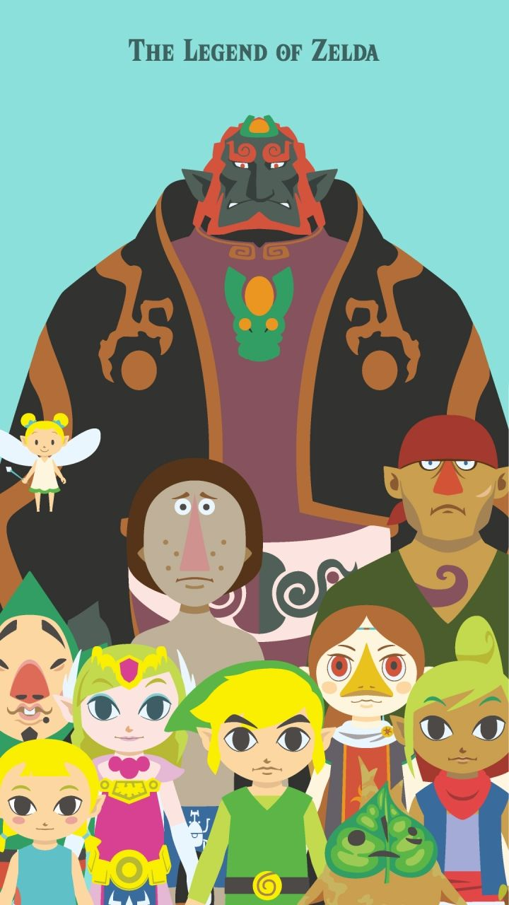 Nintendo's Official Line Account Mobile Wallpapers - Wind Waker Hd Iphone , HD Wallpaper & Backgrounds
