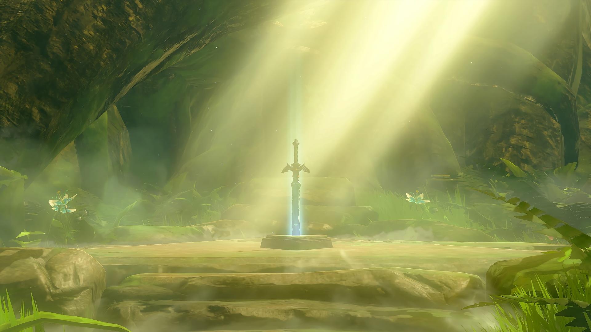 Wallpaper The Legend Of Zelda Master Sword Breath Of The