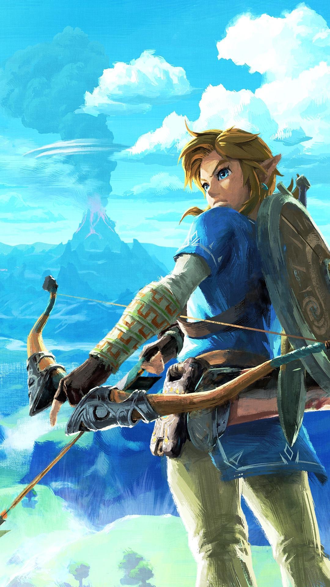 Zelda Breath Of The Wild Hd Wallpaper - Legend Of Zelda Breath Of The Wild Link Poster , HD Wallpaper & Backgrounds