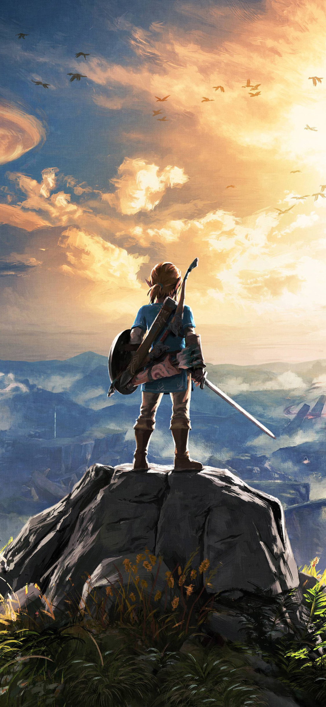 The Legend Of Zelda Breath Of The Wild 4k - Iphone X Wallpaper 4k , HD Wallpaper & Backgrounds