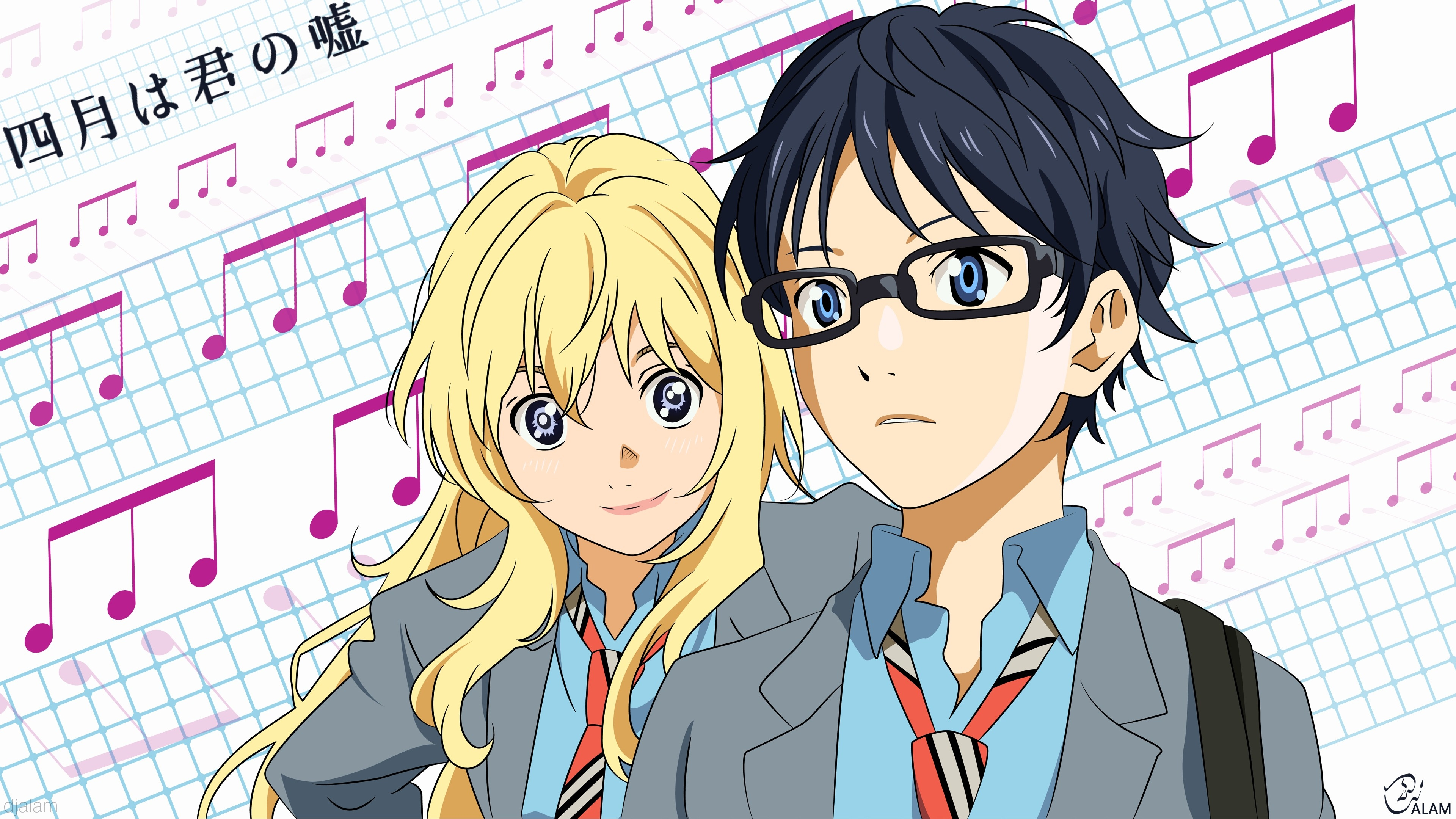 High Definition Anime Your Lie In April Wallpapers - Shigatsu Wa Kimi No Uso Banner , HD Wallpaper & Backgrounds