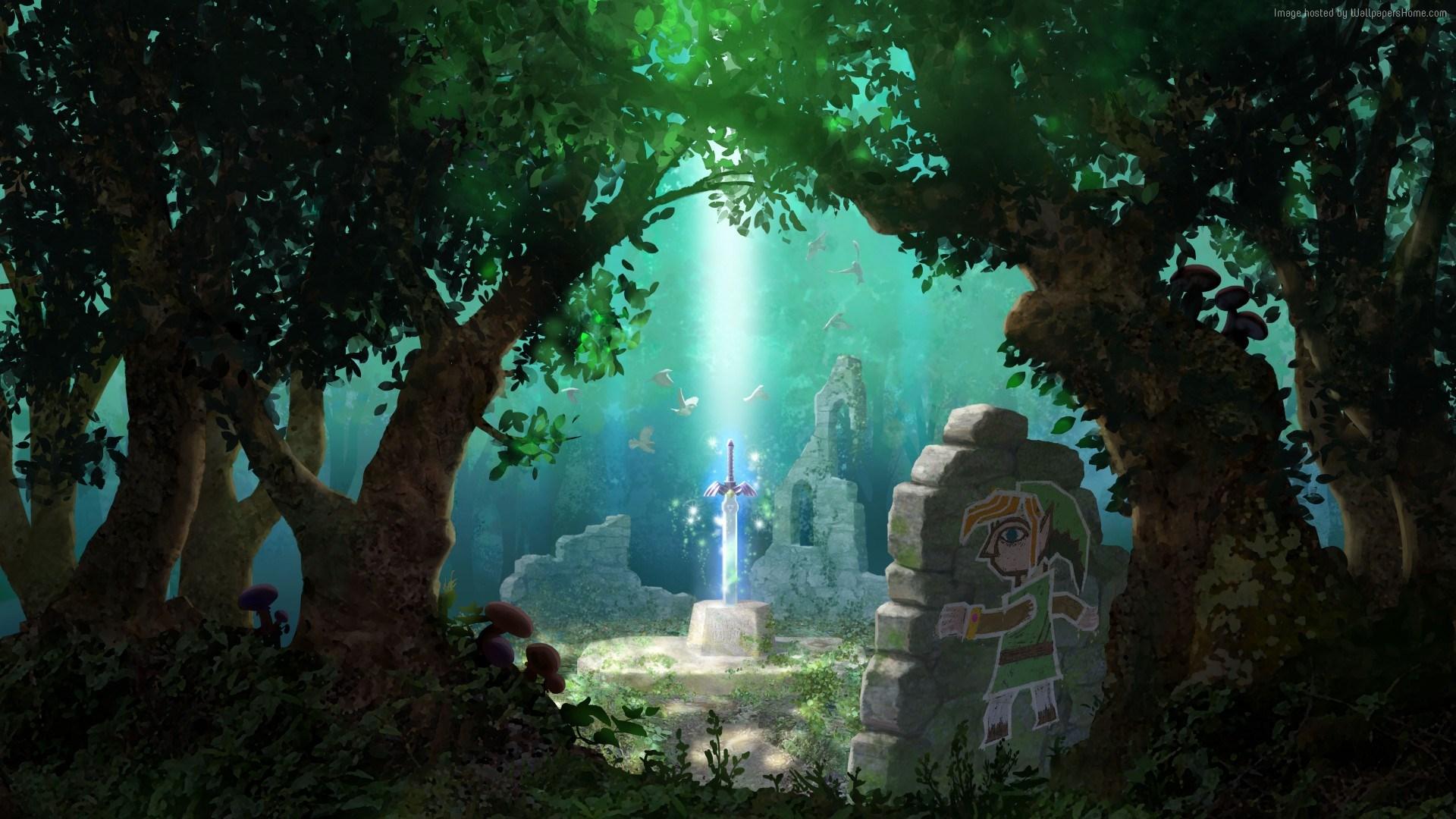 The Legend Of Zelda Wallpaper Art Legend Of Zelda A Link Between