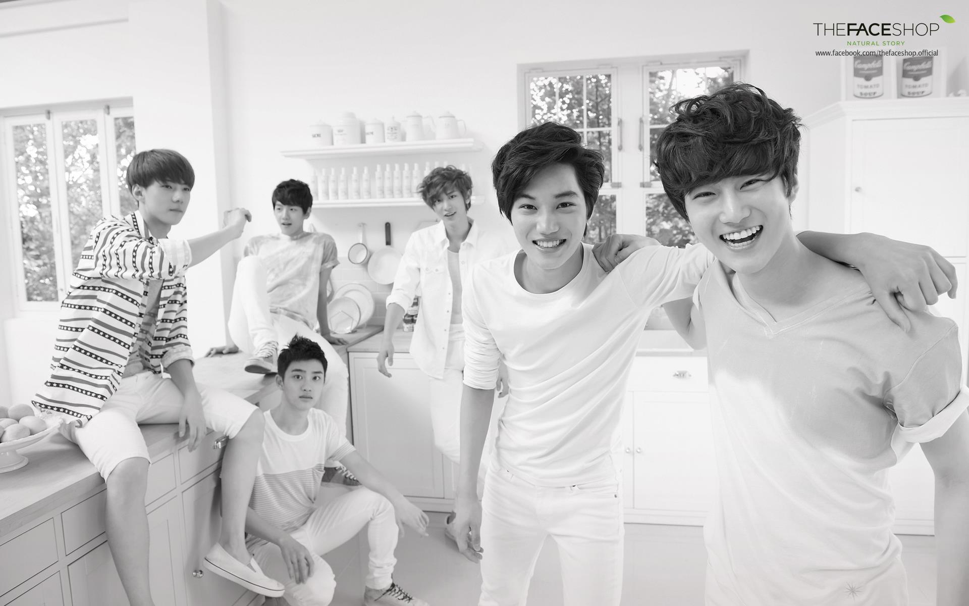 Exo Hd Wallpaper Exo Wallpaper Face Shop 304783 Hd