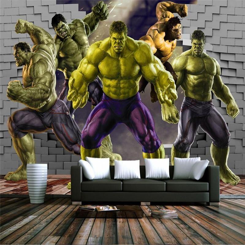 3d Avengers Photo Wallpaper Custom Hulk Wallpaper Unique Wall
