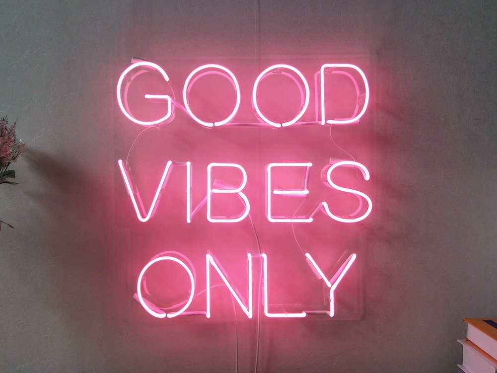 Good Vibes Only Real Glass Neon Sign For Bedroom Garage Neon Lights Good Vibes 308315 Hd Wallpaper Backgrounds Download