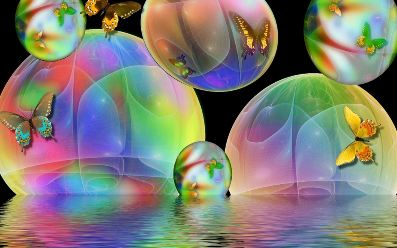 Bubbles Animated Wallpaper, 43 Hd Bubbles Animated - Animated Butterfly Wallpaper Desktop , HD Wallpaper & Backgrounds