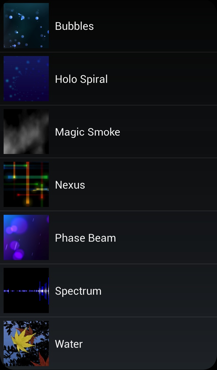 spectrum live wallpapers group water