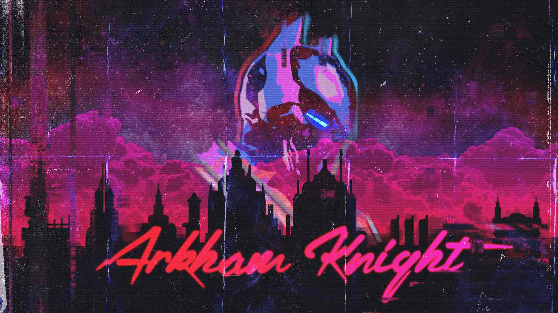 Outdrive Full Hd Wallpaper And Background Image Arkham Knight Retrowave 309475 Hd Wallpaper Backgrounds Download