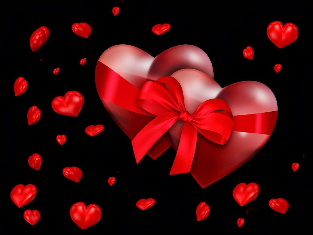 Free Valentines Day Wallpaper - Romantic Valentine's Day Heart , HD Wallpaper & Backgrounds