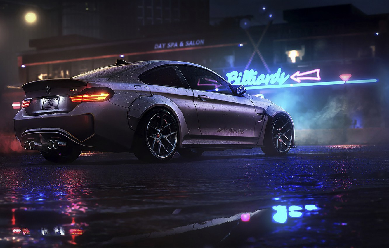 Photo Wallpaper Night, Bmw, Game, Nfs, Night, Art, - Need For Speed Bmw M4  (#3003336) - HD Wallpaper & Backgrounds Download
