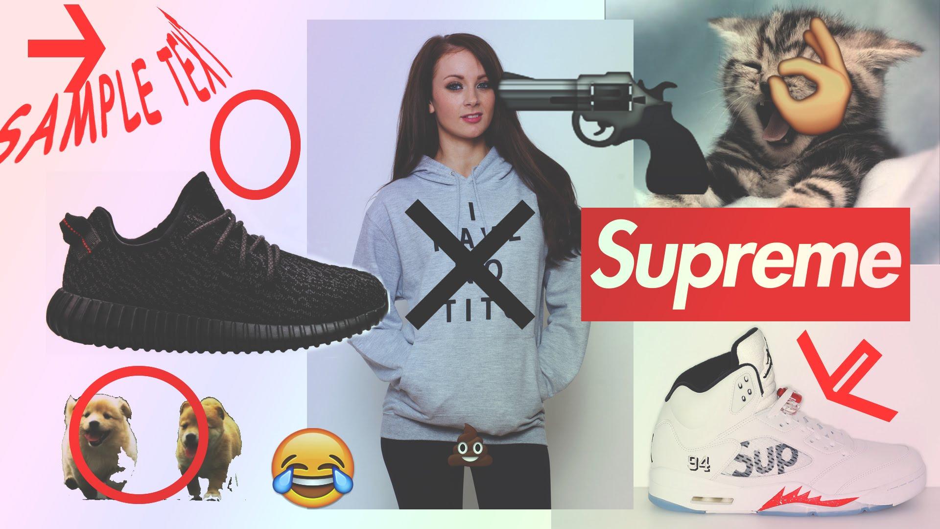 Supreme Wallpaper Full Hd Free Download Pc Desktop - Supreme Wallpaper Girl , HD Wallpaper & Backgrounds