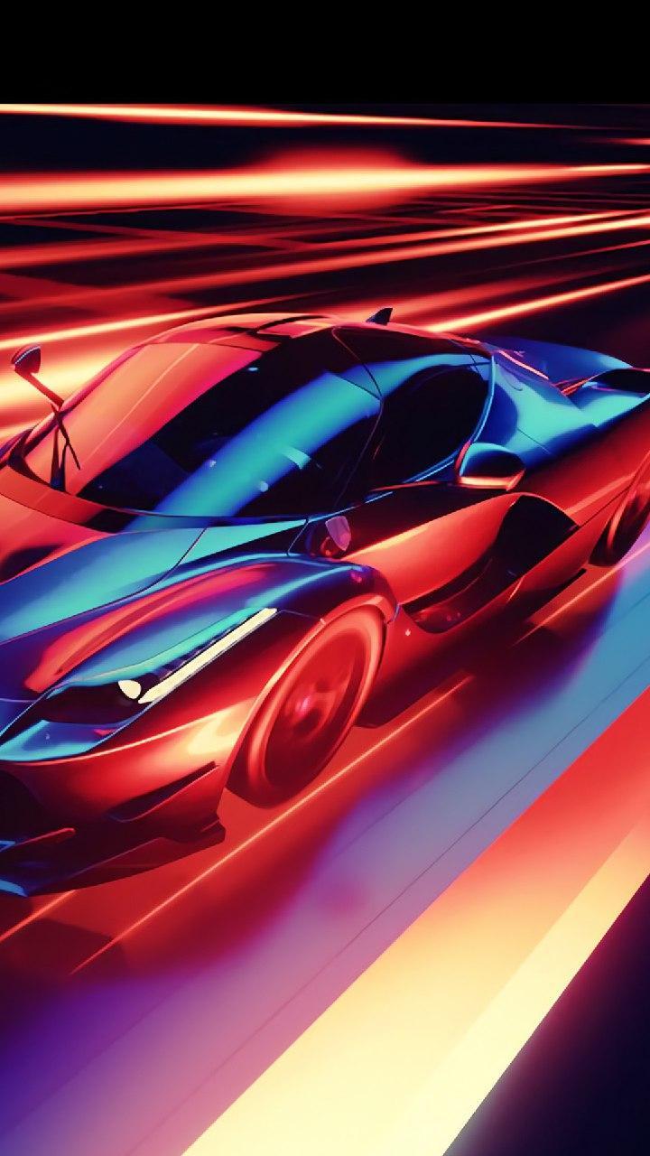 Neon Car , HD Wallpaper & Backgrounds