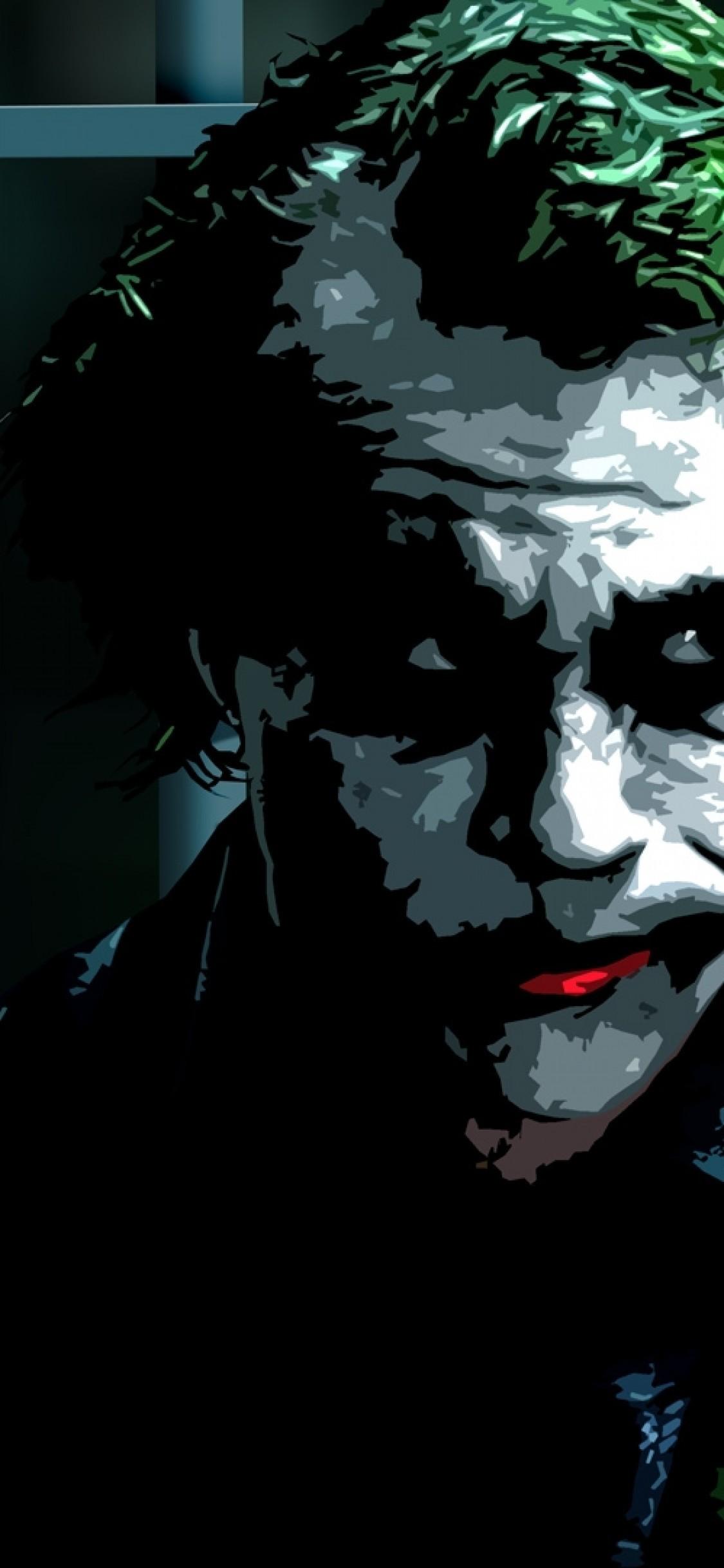 The Dark Knight, Joker, Heath Ledger, Painting - Heath Dark Knight Joker , HD Wallpaper & Backgrounds