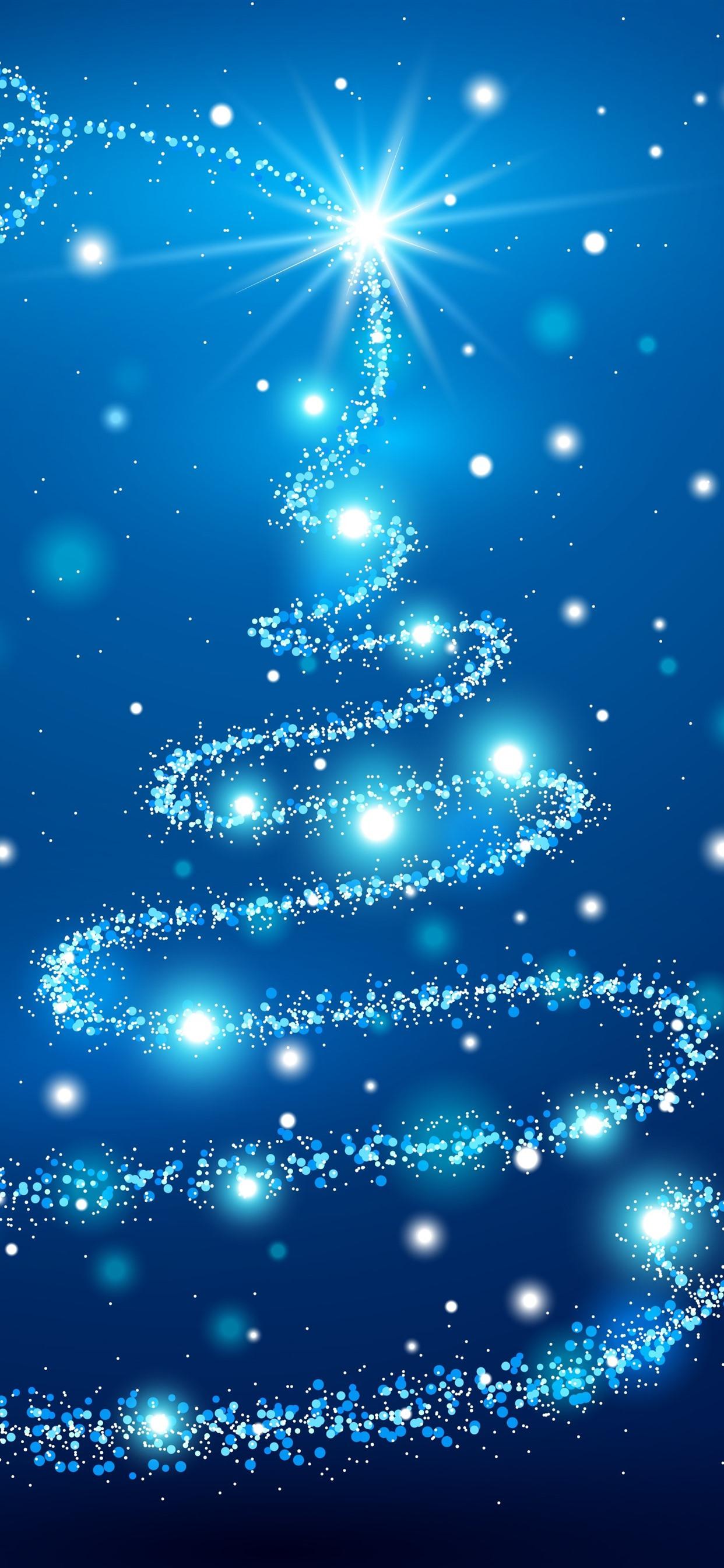 Iphone Wallpaper Blue Christmas Tree, Shine, Stars - Iphone Xs Wallpaper Christmas , HD Wallpaper & Backgrounds