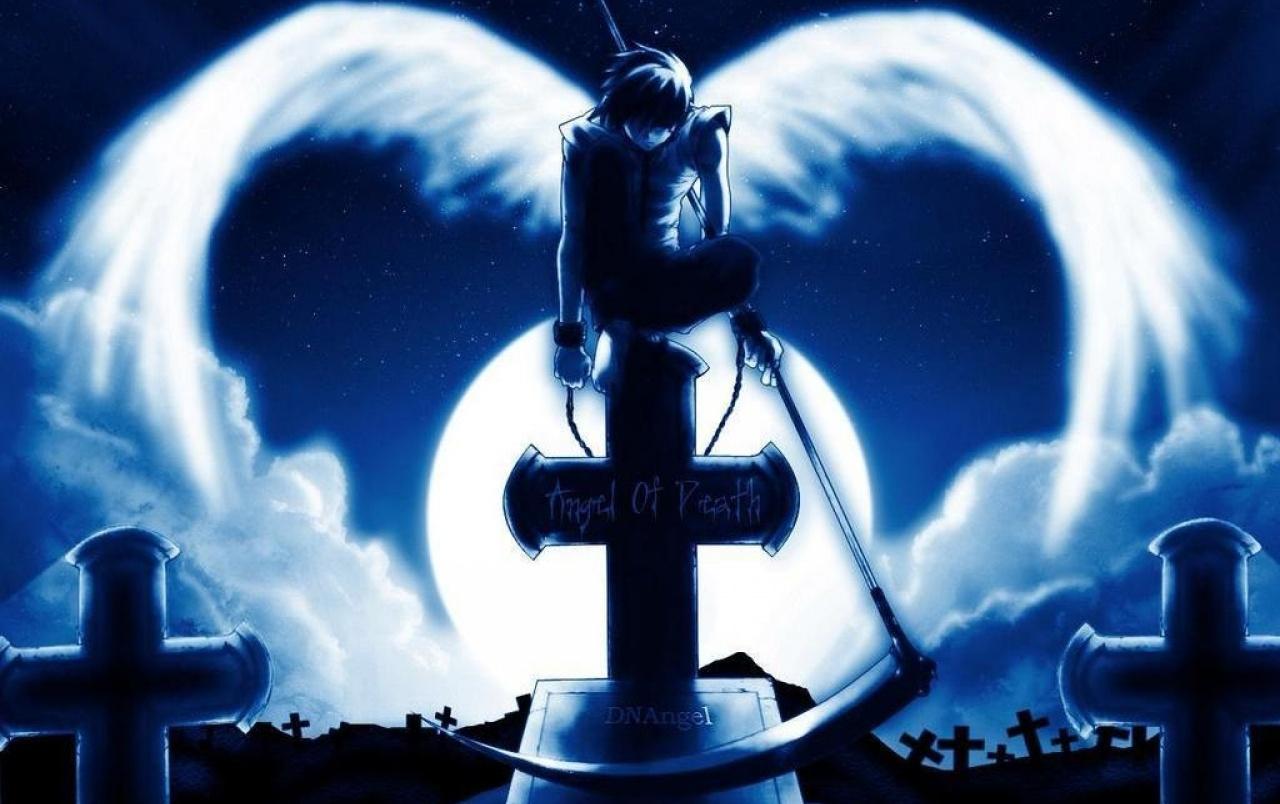Dark Angel Wallpapers - Anime Wallpaper Grim Reaper , HD Wallpaper & Backgrounds