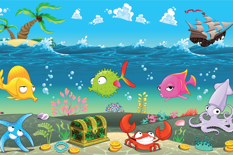 Under Sea - Cartoon Under The Sea , HD Wallpaper & Backgrounds