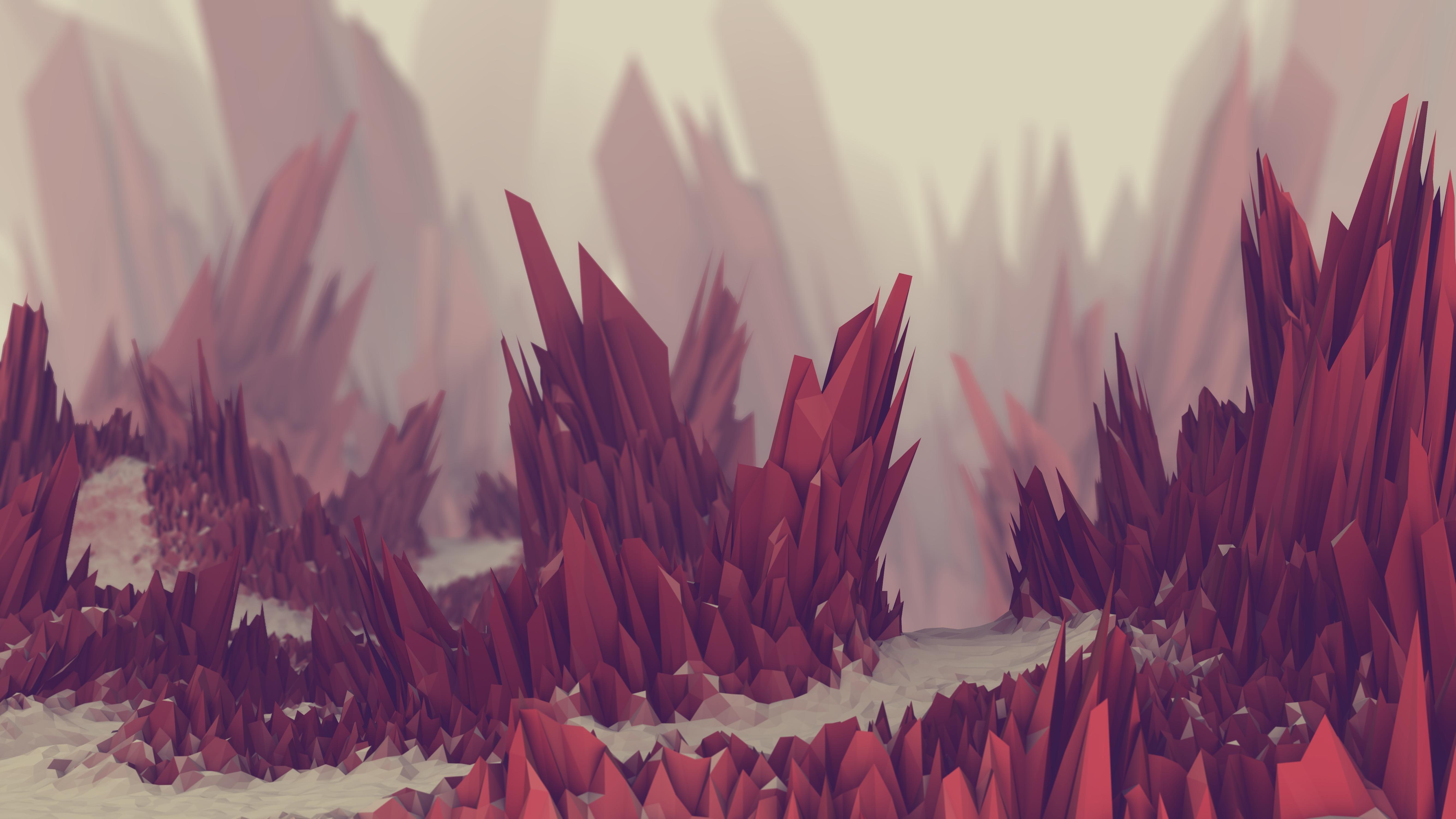 Low Poly Landscape Wallpaper 4k , HD Wallpaper & Backgrounds