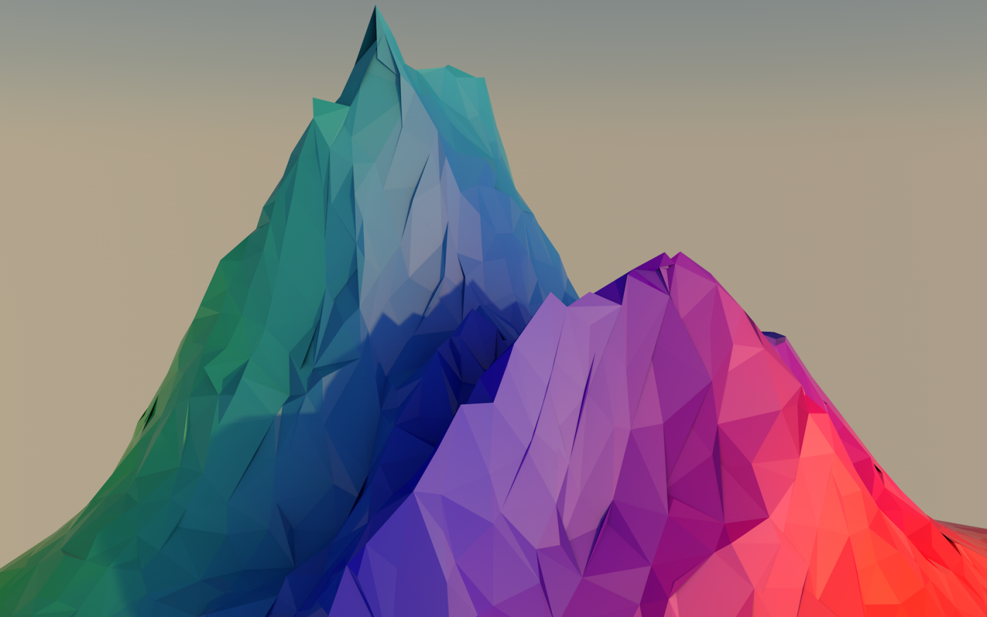 Polychromatic, Mountain, Low Poly - Low Poly Wallpaper Hd , HD Wallpaper & Backgrounds