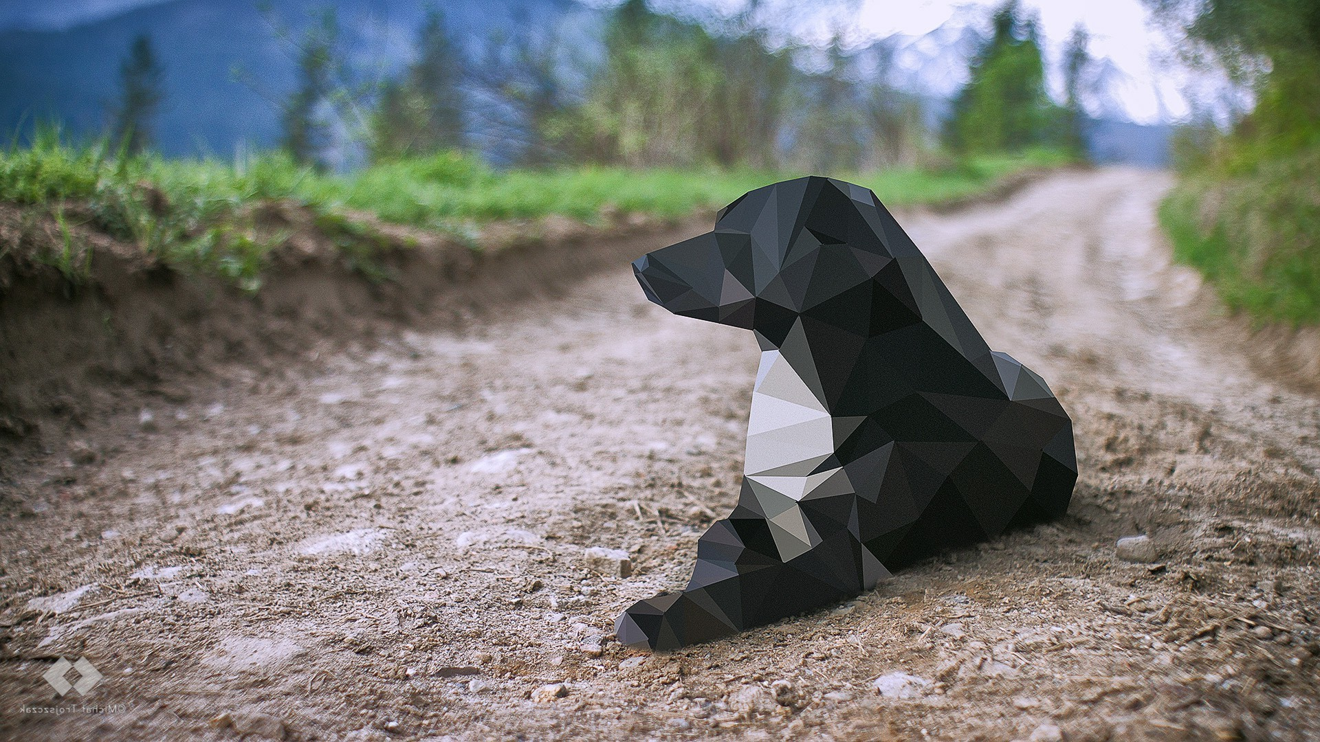 Low Poly Dog Wallpapers - Low Poly Dog Background , HD Wallpaper & Backgrounds