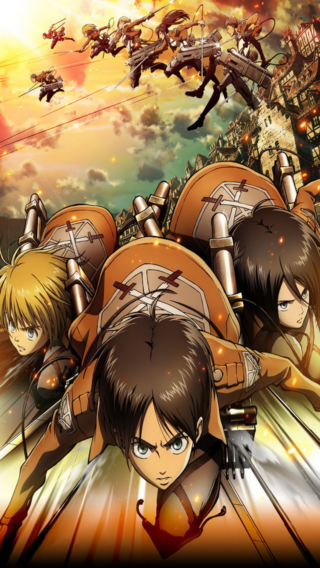 Attack On Titan Iphone 5 Wallpaper Iphone 5 Wallpapers Anime Shingeki No Kyojin 3038265 Hd Wallpaper Backgrounds Download