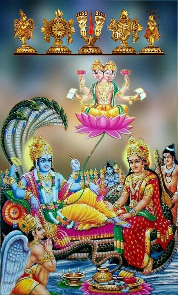 Lord Vishnu And Lord Hanuman , HD Wallpaper & Backgrounds