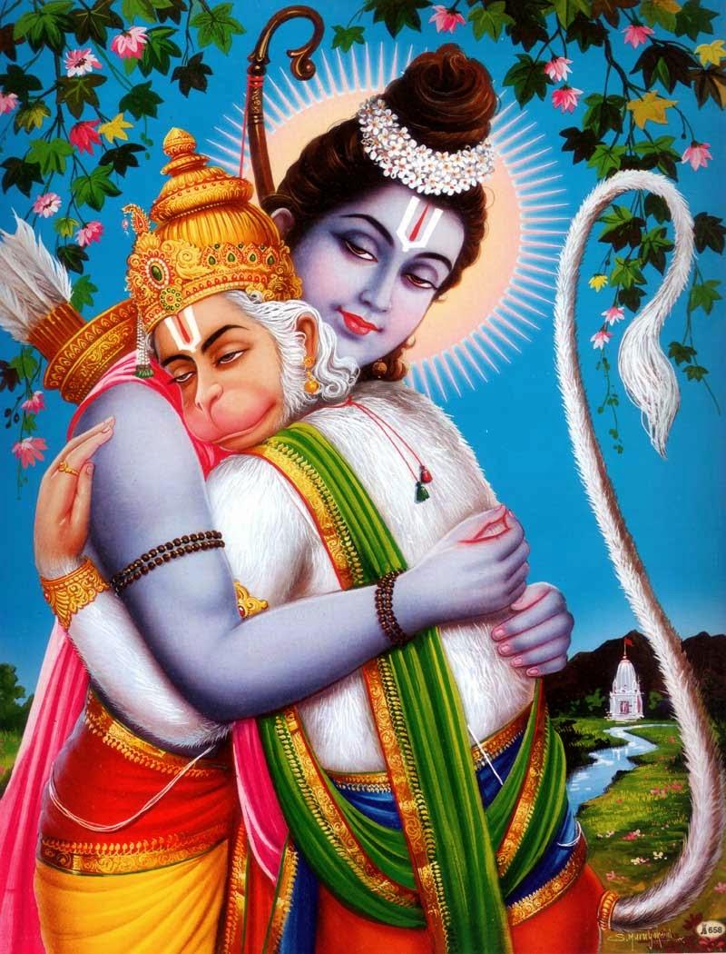 Lord Rama And Hanuman , HD Wallpaper & Backgrounds