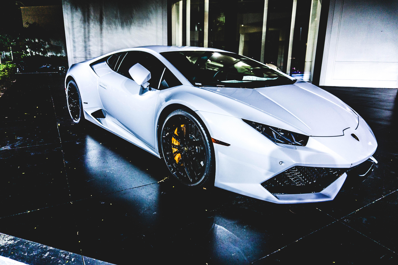 Auto, Side View, Sports Car, White - White Super Car 4k , HD Wallpaper & Backgrounds