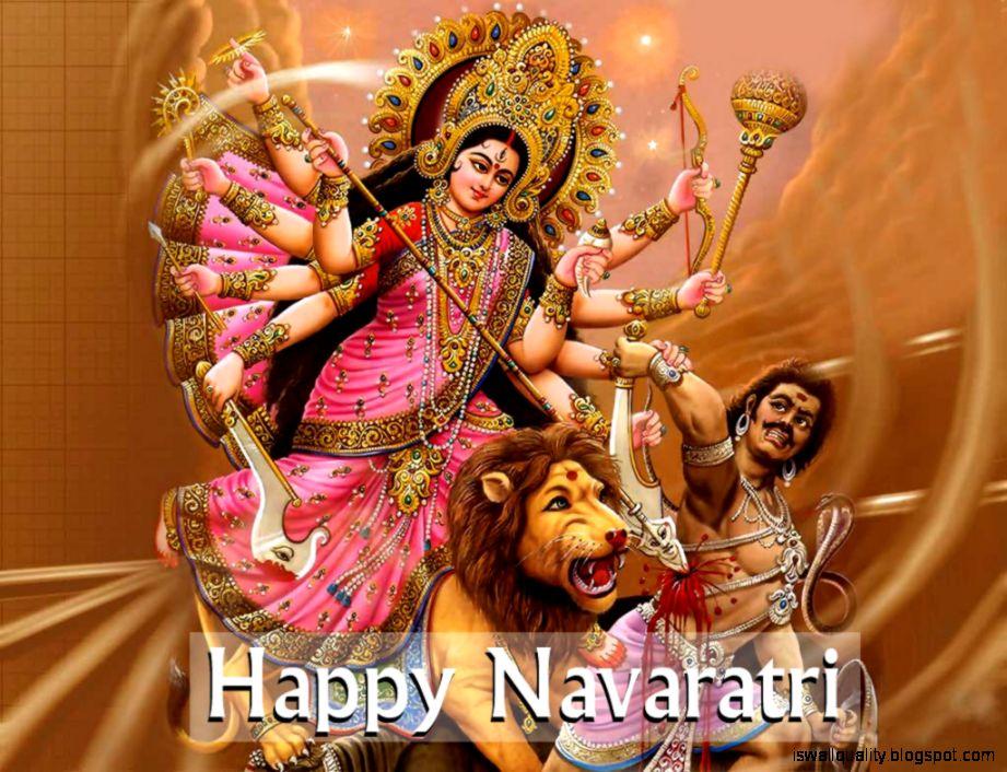 Happy Navratri Wallpaper 2016 Hd Free Download - Durga Maa Navratri Images Hd , HD Wallpaper & Backgrounds