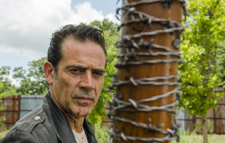 Photo Wallpaper Jeffrey Dean Morgan, The Walking Dead, - Walking Dead Season 7 Episode 8 Negan , HD Wallpaper & Backgrounds