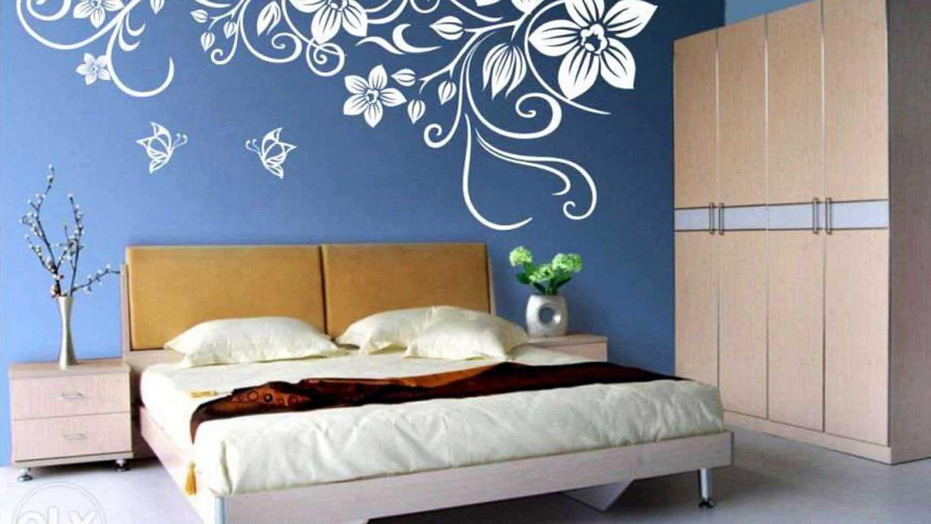 Wall Painting Designs For Bedroom , HD Wallpaper & Backgrounds