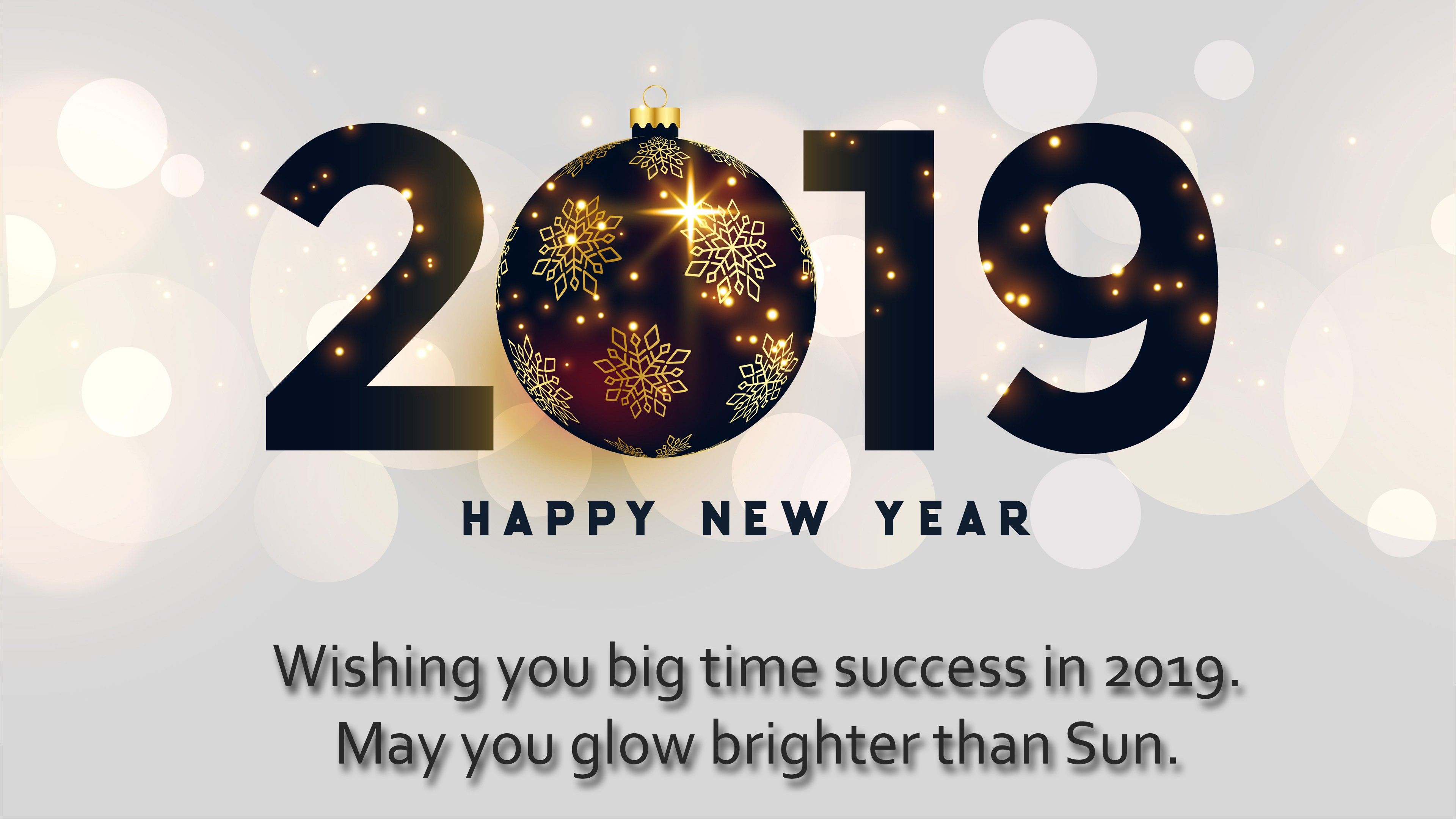 New Year Wishes Wallpapers - Happy New Year 2019 4k , HD Wallpaper & Backgrounds