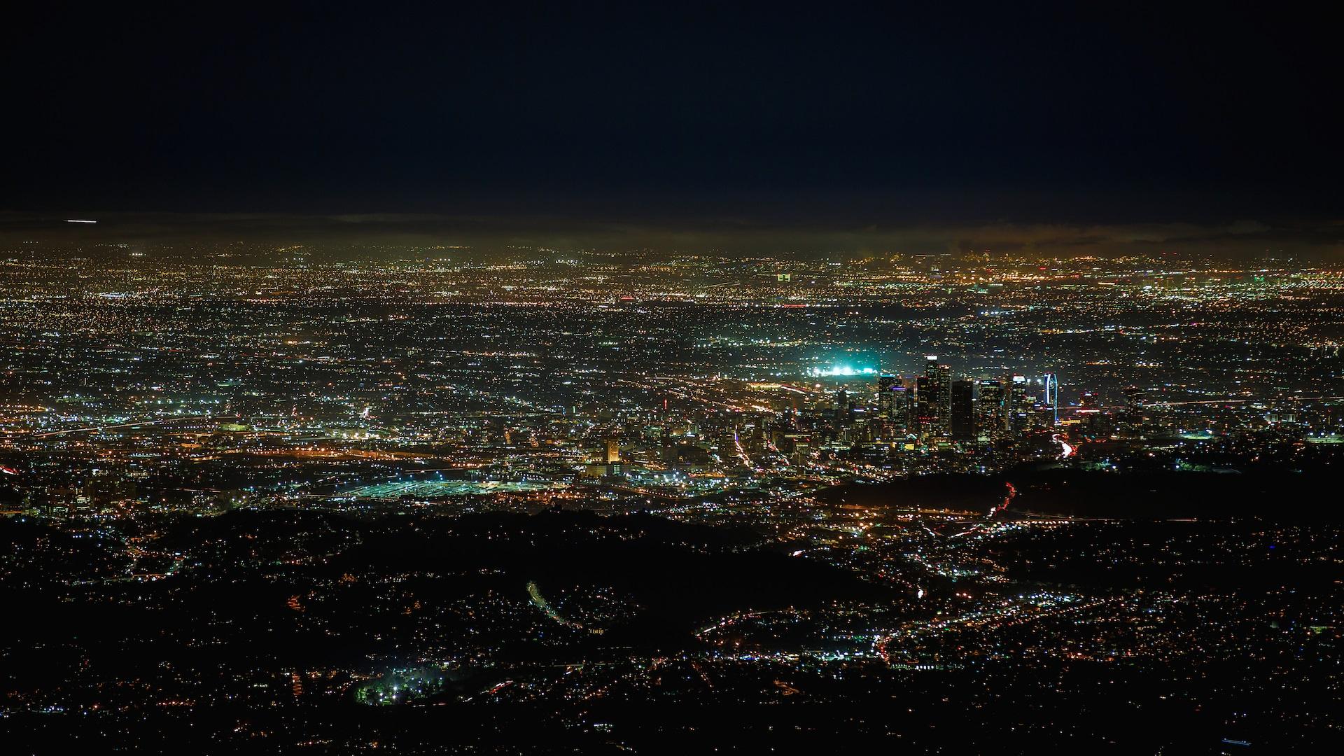 Wallpaper America, California, Night City, Lights, - Los Angeles Night Stars , HD Wallpaper & Backgrounds