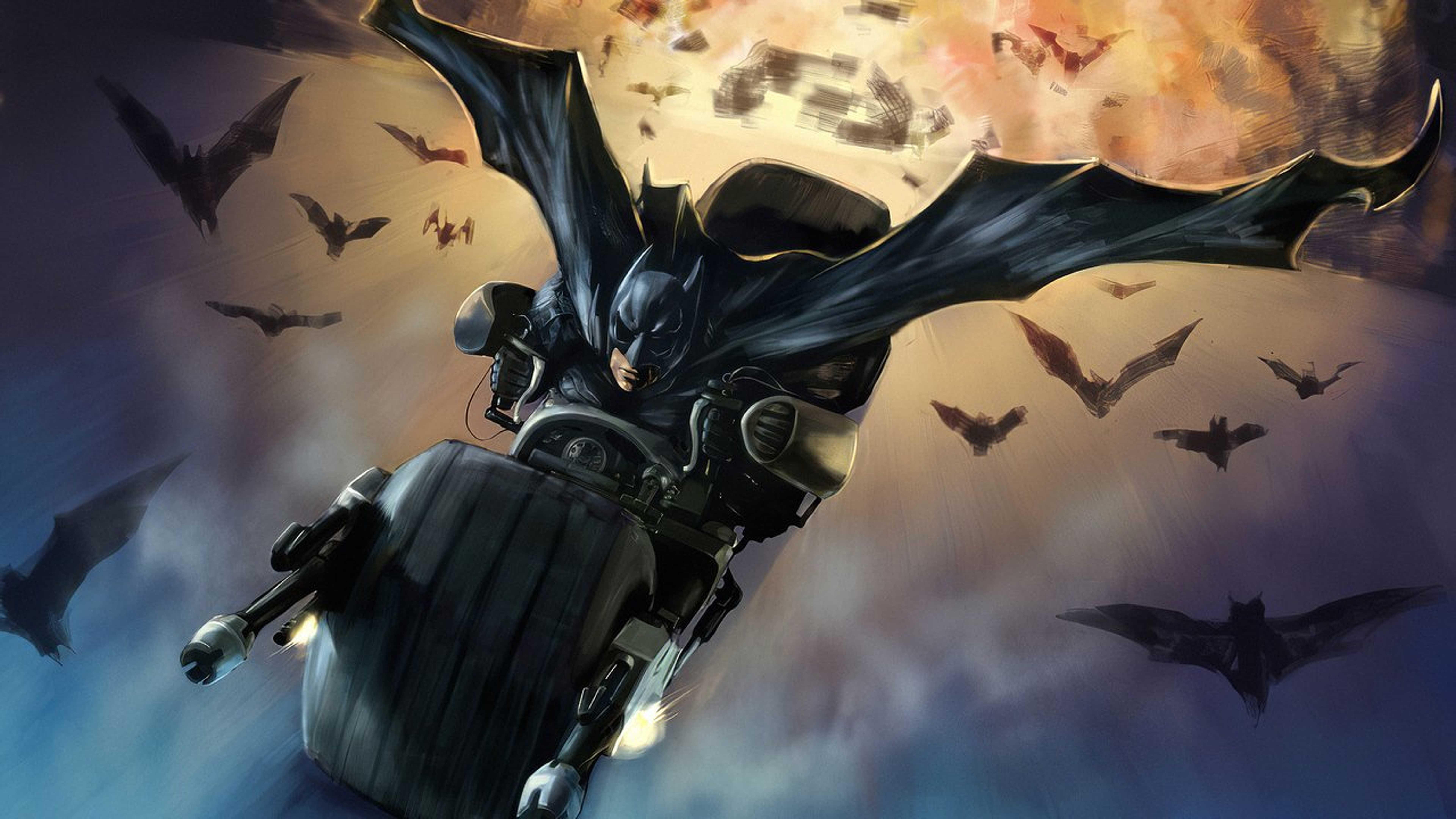 Batman Bat Mobile, Batman, Hd, Superheroes, Digital , HD Wallpaper & Backgrounds