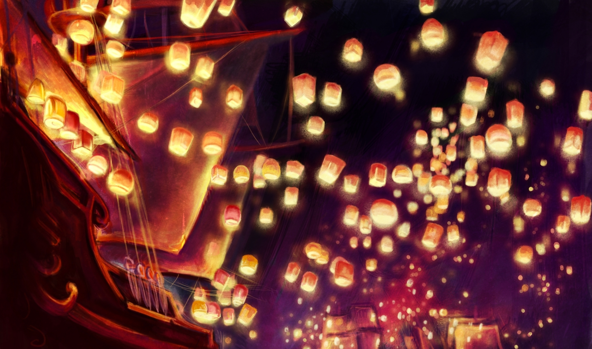 Download Disney Tangled Wallpapers Tangled Lanterns Wallpaper Hd 3072672 Hd Wallpaper Backgrounds Download